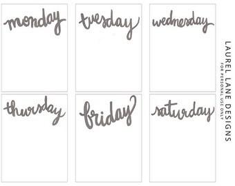 Week in the Life Journaling Cards | Digital