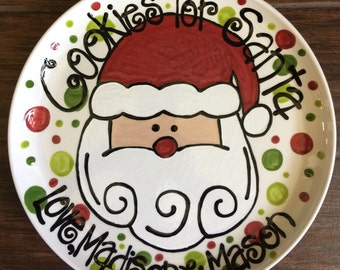 "12"" Cookies for Santa Plate"