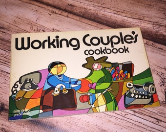 Working Couple's Cookbook, Peggy Treadwell, Nitty Gritty Publications, Wedding Gift, Abstract Artwork