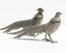 French Vintage Metal Birds,table decoration,menu holders  , home decor, pheasants