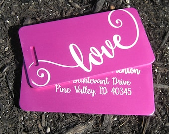 Luggage Tag - Luggage Tags - Engraved Luggage Tags - Personalized Luggage Tags - Gift for Couple - Gift for Bride - Love Tags