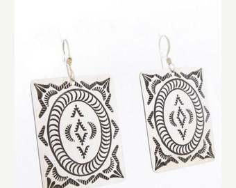 ON SALE Navajo Native American Sterling Silver Earrings