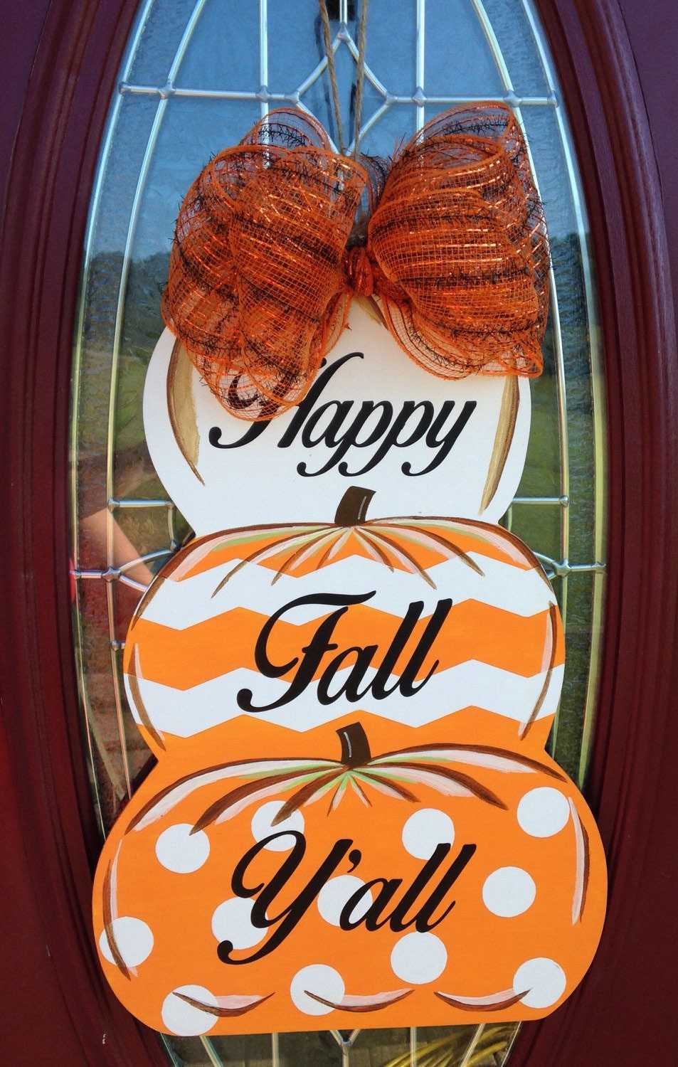 Decorating Ideas > SALE Fall Door Hanger Pumpkin Door Decoration Fall ~ 151936_Halloween Door Greetings