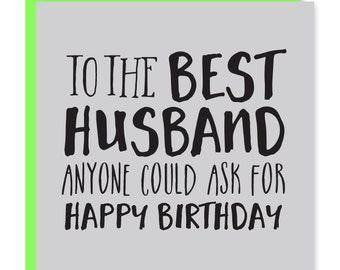 Best husband card | Husband birthday card | Happy birthday to my husband | Recycled