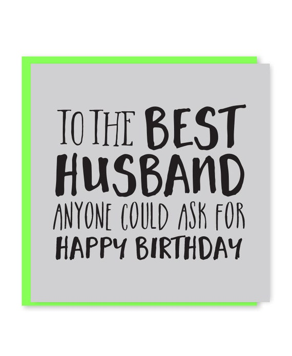 Birthday Wishes Hubby Personalized Poster By Uc: Best Husband Card Husband Birthday Card Happy Birthday To