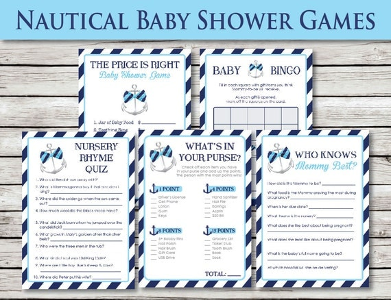 nautical baby shower games by blacklinedesignllc on etsy