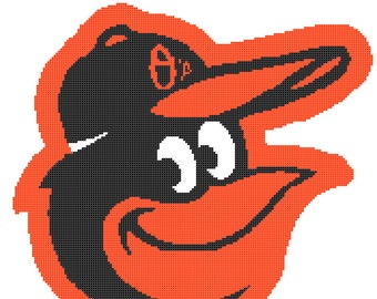 Baltimore Orioles -- Counted Cross Stitch Chart Patterns, 3 sizes!