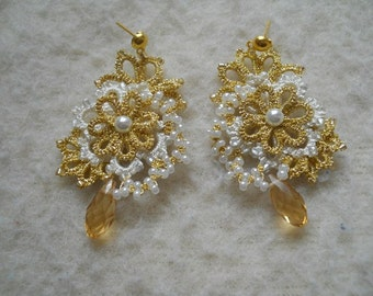 earrings scheme 'golden flower'