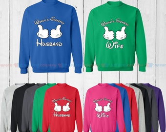 World's Greatest Wife & World's Greatest Husband - Matching Couple Sweatshirt - His and Her Sweatshirts - Love Sweaters