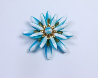 1950s Blue Flower Brooch