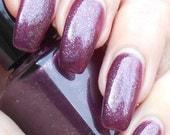 SALE Plum Pudding - blackened plum super shimmer nail polish