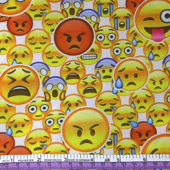 50147cm patchwork printed emoji fabric for tissue kids for Emoji fabric