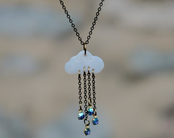Rain Cloud Crystal Necklace