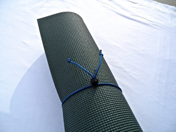 Mini Yoga Mat Tie- Colorado Blue- FREE SHIPPING on All U.S. Orders, Yoga Mat Holder, Yoga Mat Carrier, Yoga Mat Strap, Yoga Accessories