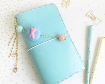 Pastel Seafoam Pelledori  Leather Journal/ Travelers Notebook