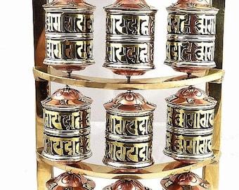 MILL A prayer Buddhist Tibetan wheel dharma impermanence meditation ritual chenrezi mantra compassion om mani pedme hum mp47