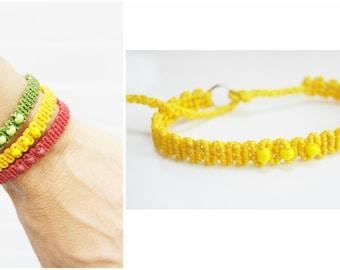 Yellow bracelet with yellow beads