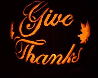 "9"" Give Thanks pumpkin"