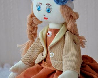 Doll Handmade Fabric Rag Textile Handmade Doll Home Decoration Interior Decor