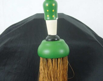 Vintage Black Americana Clothes Brush. Bell Hop Figure.