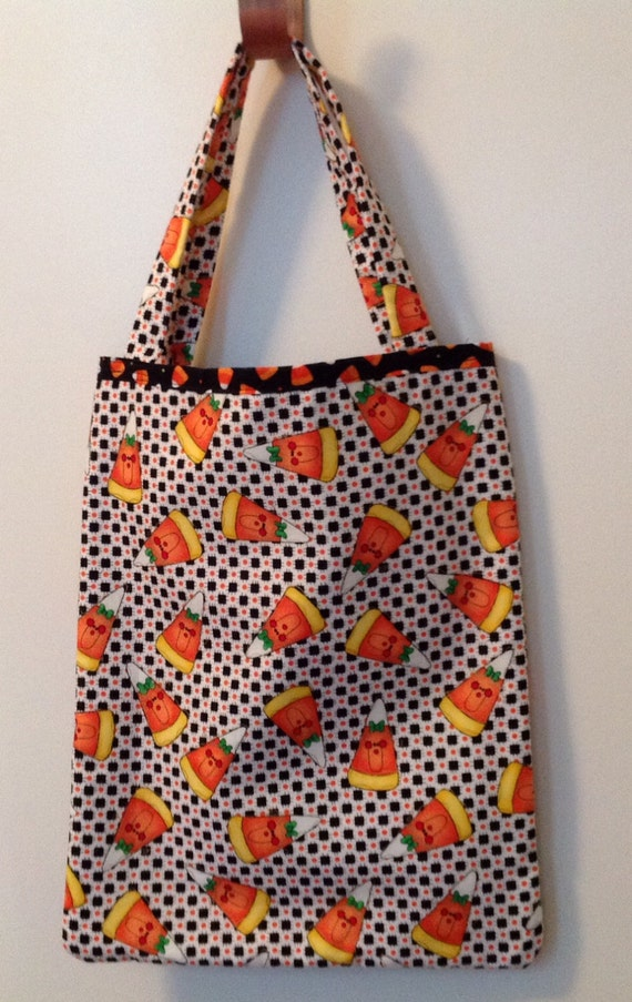 Halloween Treat Bag - Little candy corn faces