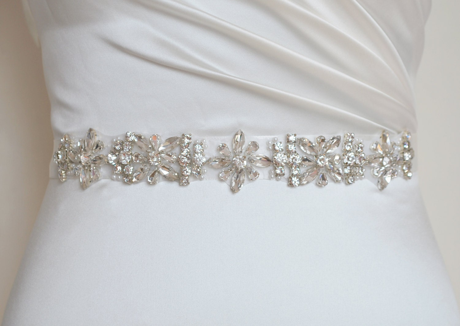 Wedding sash bridal belt rhinestone sash crystal sash for Wedding dress sash with rhinestones