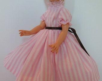 "Pink Stripe Dress Set for 19"" Royal Grannykins Mother of the Bride Fashion Dolls"