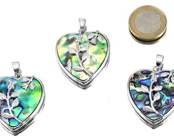 """Special offer: heart pendant abalone, """"Rose"""" instead of 12.90 now only 9.90"""