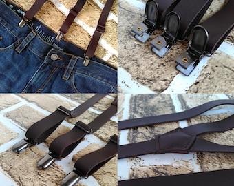 Party Suspenders,Wedding Suspenders,Mens Suspenders,Genuine leather Suspenders,Groom Wedding Gift,Casual Suspenders,Dress Suspenders