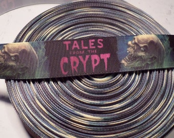 Horror grosgrain ribbon, tales from the crypt, horror grosgrain ribbon