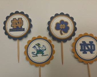 Notre Dame - 12 cupcake toppers