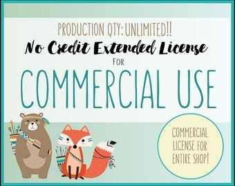 Extended License for Commercial Use of ALL CLIPART SETS - Commercial Use of Entire Shop, Unlimited Production Quantity! All Digital Grahpics