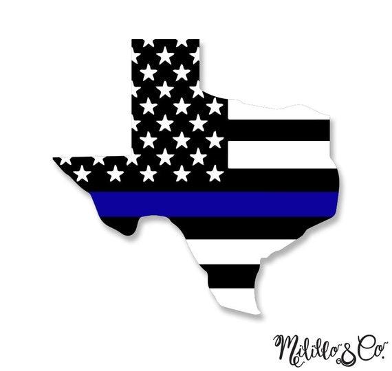 Thin blue line police texas american flag car decal sticker for Texas thin blue line shirt