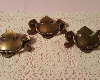 Set of Three (3) Swing Handle Drawer Pulls by Keeler Brass Company