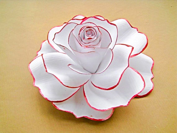 Giant White Paper Rose White Flower Blooms Extra Large Paper
