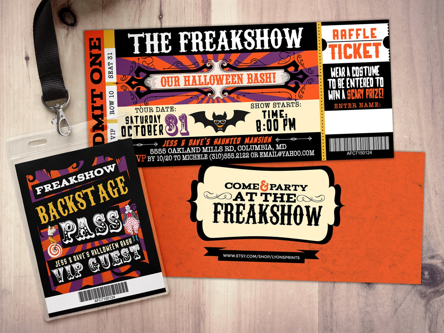 Freak show, Halloween invite, Halloween party, Halloween ...