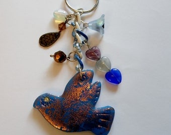 Love birds one of a kind key chain