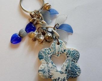 Hand made Boho one of a kind key chain