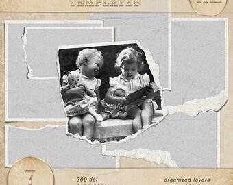 Frames - Digital scrapbook frames. Photo Book. Photo album.  Frame Vol.6