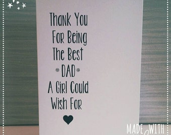 Card, Fathers Day, Daddy, Thanks Dad, Best Daddy Card, Fathers Day Card, Humour, Dad