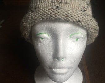 Rolled Brim knitted hat