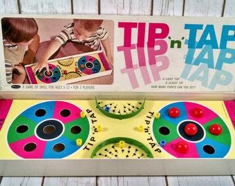 Vintage Tip N Tap Children Board Game ~ Kids Ball Rolling Game ~ Whitman 1965 ~ Retro Collectibel Board Games
