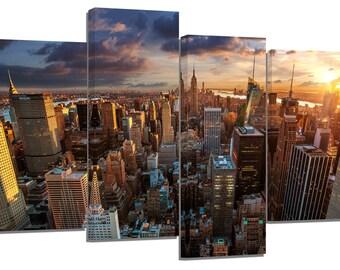"new york manhattan/2/set of 4 new frames/ 32""x 20"""