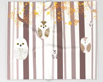 Throw Blanket Owls Animals Bedding 68x80  51x60 88x104 Soft Gift for her teens him Nursery Children Dorm Fleece Birthday Accent Bedding Cute