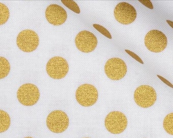 White and Gold Polka Dot Pillowcase Dress