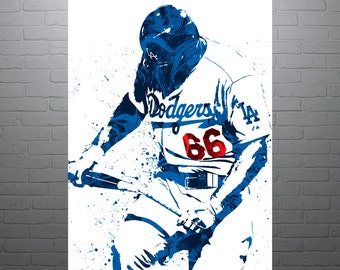 Yasiel Puig Los Angeles Dodgers Poster