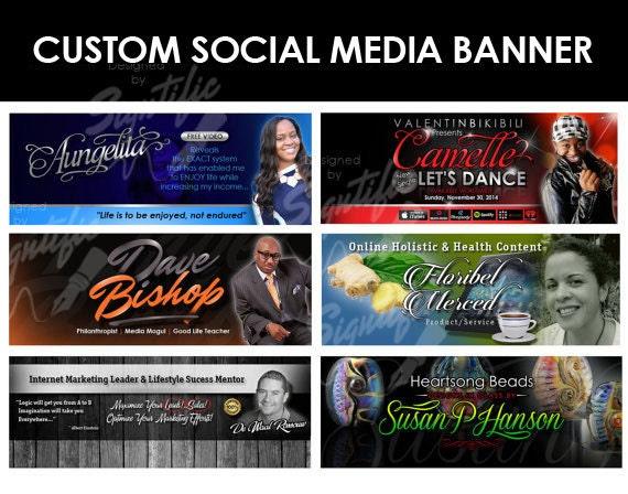 Professional social media banner, custom social media header, business social media cover, personal social media banner design in any colors