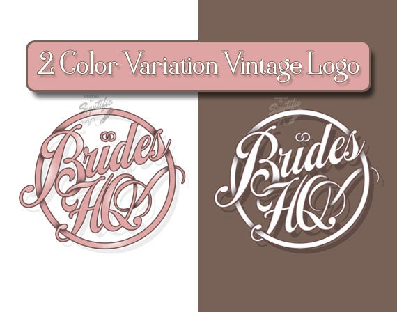 Vintage Round Logo with 2 Color Variation, Business Badge Logo Designs, Custom Circle Label, Product Label Design, OOAK Sign Logo Design