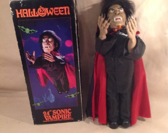 Vintage Halloween 24 Inch Sonic Vampire with Box