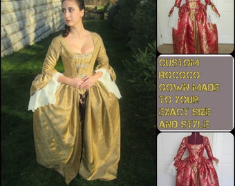 Rococo Gown; Colonial Gown; Reenactment Gown; Marie Antoinette Gown; Madame De Pompadour Gown; Catherine the Great; Revolutionary Dress